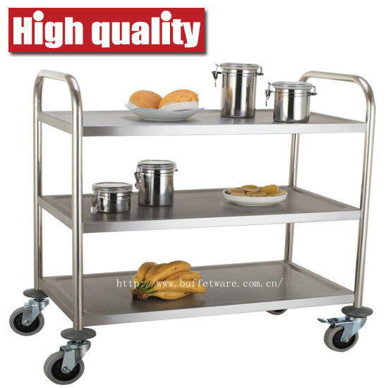 Round Tube 3 Tier Trolley