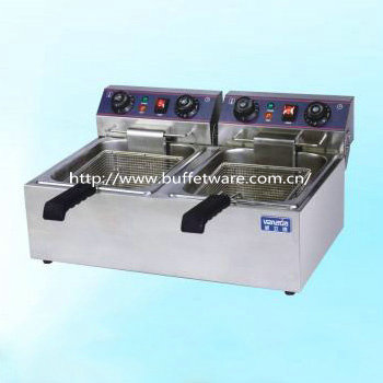 Stainless steel Double Cylinder Electric Fryer