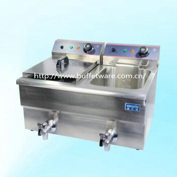Double Cylinder Electric Fryer(seamless)