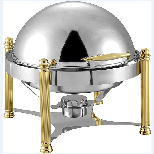 6L round roll top chafing dish